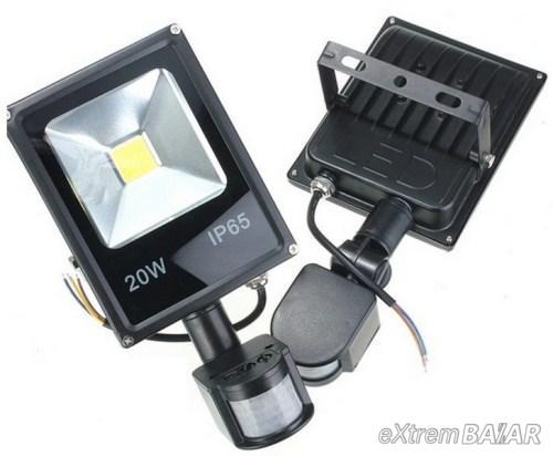 Mozgásérzékelős led reflektor 20 W - Slim