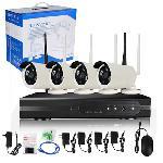 4 kamerás vezeték nélküli megfigyelő kamerarendszer - wifi 5G -
