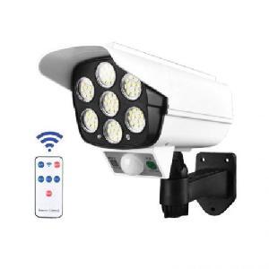 Biztonsági álkamera mozgásérzékelős napelemes LED reflektorral