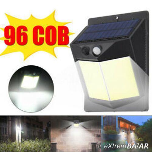 Solar Powered COB 96LED vízálló mozgásérzékelős kültéri fali lámpa- Extra nagy fényerő