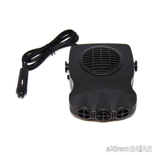 Szivargyújtós ventilátor autóba / hideg, meleg levegőt fúj