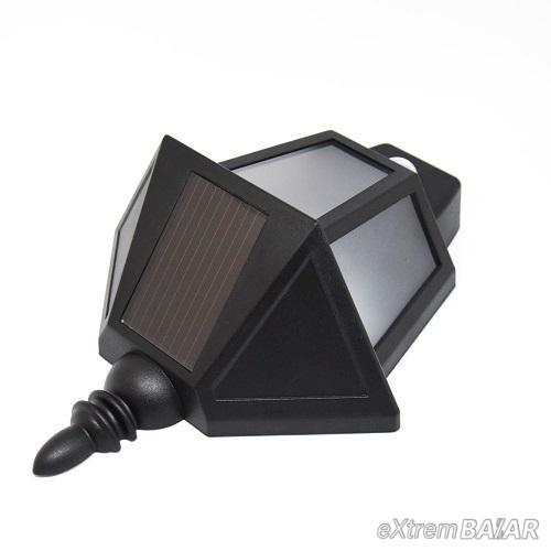 Klasszikus napelemes, mozgásérzékelős fali lámpa