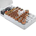 Battery Master Falra szerelhető elem rendszerező és tároló / teszterrel