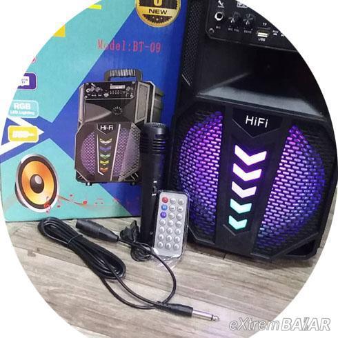 """Vezeték nélküli hordozható hangszóró mikrofonnal 8"""" BT-09"""