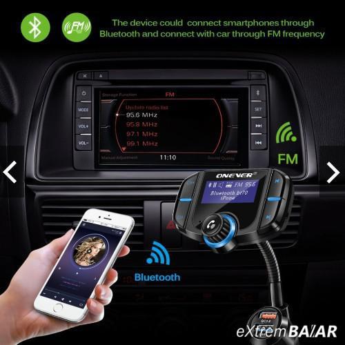 BT70 autós Bluetooth kihangosító készlet FM transmitter