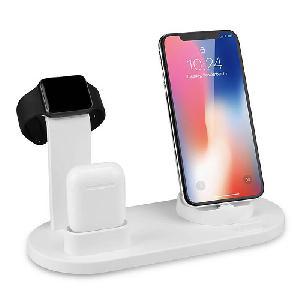 Multifunkciós töltődokk / telefon, okosóra és vezetéknélküli fülhallgató töltéssel