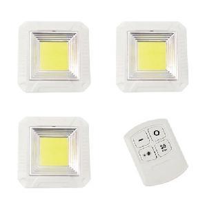 3DB 5W szögletes COB LED panel távirányítóval / Mini beltéri LED világítás