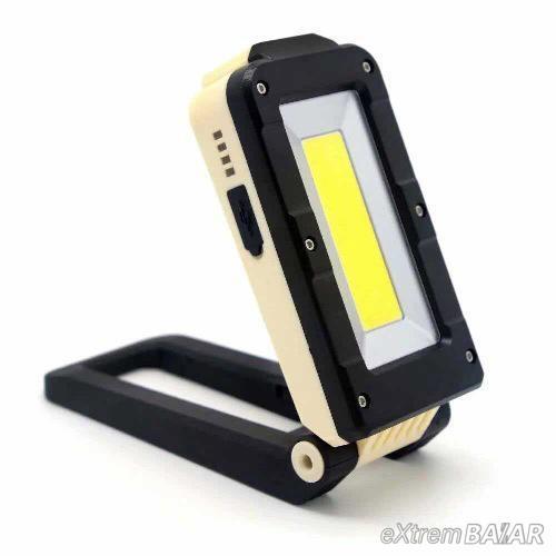 Tölthető, mágneses led kemping lámpa, szerelőlámpa