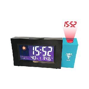 Vetítős LCD óra időjárási állomással