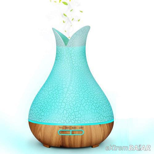 Fa hatású aromaterápiás párologtató, ultrahangos párásító és illatosító 400ml
