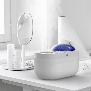 Diffúzor / aromaterápiás párásító, párologtató LED pojektorral / 1000 ml
