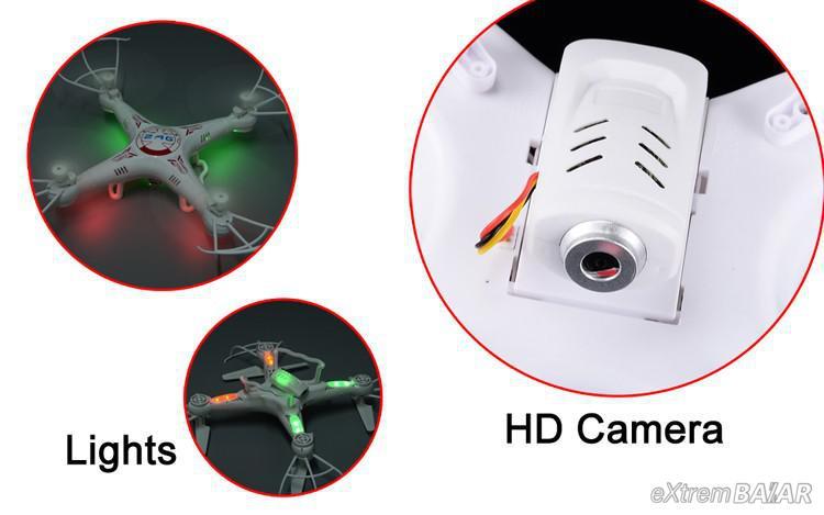 Quadcopter ( Drón ) X8 – Syma X5c Clone 360 6 axis HD cam