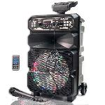 """Vezeték nélküli hordozható hangszóró mikrofonnal 8"""" DS-1814"""