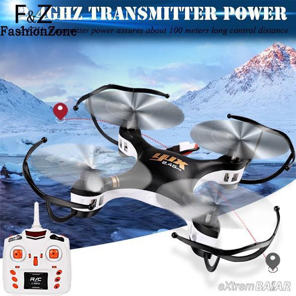 Explorers Quadcopter ( drón ) 668-A7C 2,4 GHz r / c távirányító 4 csatornás / 2,0 P Camera / 3D / 360 mód / LED