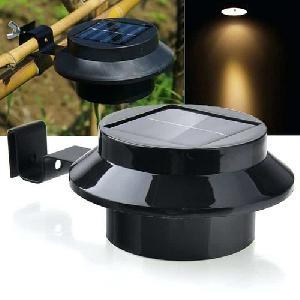 2db Napelemes LED ereszcsatorna/kerítés lámpa hideg fehér