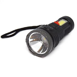 Akkumulátoros LED zseblámpa / vízálló, töltöttségjelzővel