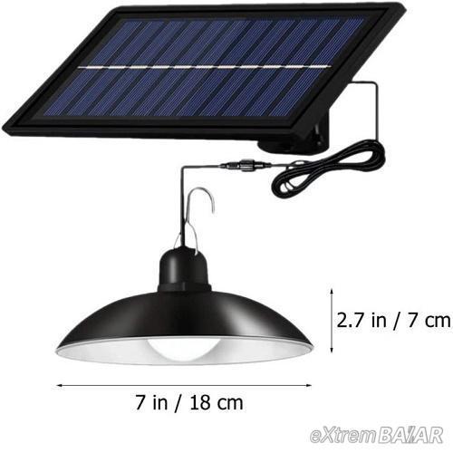 Napelemes LED függőlámpa távirányítóval