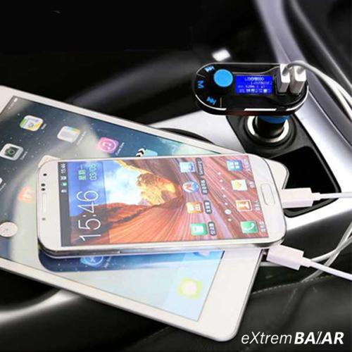FM Transmitter 5in1 Dual USB Car Charger Support SD/TF Card Music Control Hands-Free Calling