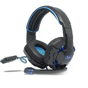 Professzionális gamer headset / fejhallgató LED-fényekkel