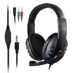 Gamer vezetékes fejhallgató mikrofonnal és hangerőszabályozóval