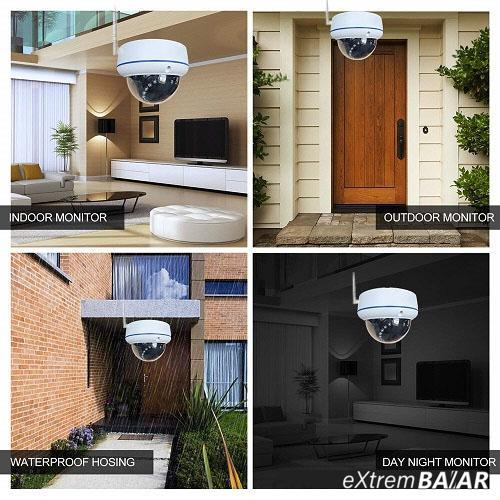 Vízálló WiFi biztonsági kamera / HD felbontás, infravörös