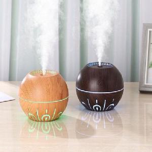 Fa hatású aromaterápiás párologtató, ultrahangos párásító és illatosító 330ml