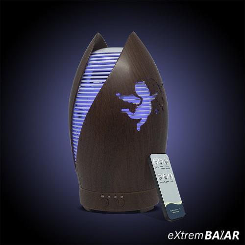 7 LED-es aroma diffúzor, párásító távirányítóval / 100 ml