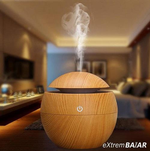 Mini fahatású, ultrahangos párologtató / aromaterápiás párásító, 130 ml
