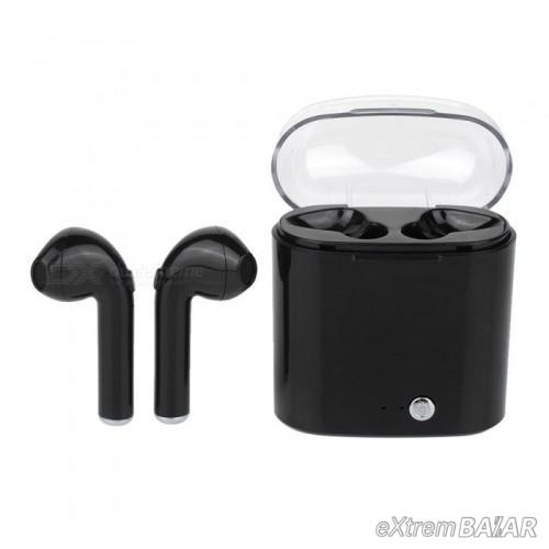 i7S TWS vezeték nélküli bluetooth fülhallgató - Fekete