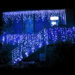180 LED-es karácsonyi jégcsap fényfüzér, izzósor, 8,5 m