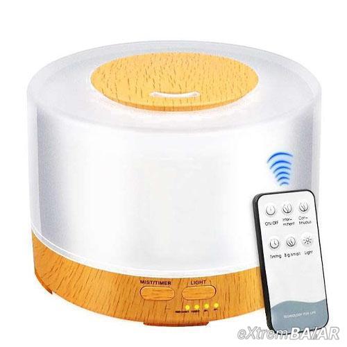 Világító, aromaterápiás párologtató távirányítós vezérléssel / ultrahangos párásító, 500 ml