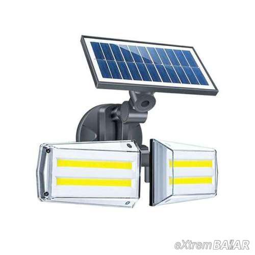Napelemes kültéri fény- és mozgásérzékelős lámpa / mikrohullámú érzékelővel JL-COB22