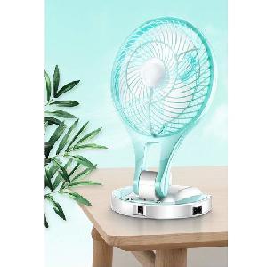 Újratölthető, hordozható ventilátor LED lámpával JR-5580