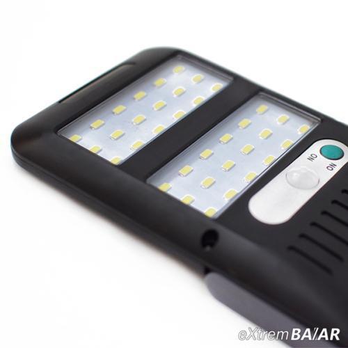 Napelemes fény- és mozgásérzékelős lámpa 36 leddel
