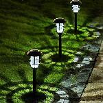 Napelemes kültéri kerti lámpa, földbe szúrható 43 cm X20