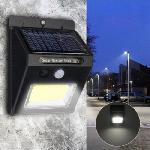 Solar Powered COB 24LED vízálló mozgásérzékelős kültéri fali lámpa
