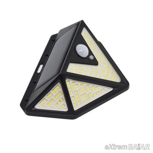 Napelemes mozgásérzékelős éjjeli lámpa, 166 leddel CL-166