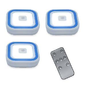 Mini LED-lámpa készlet, távirányítóval, 3 darabos