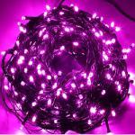 Rózsaszín Karácsonyi fényfüzér 350 led
