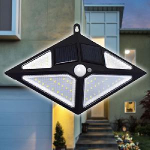 Napelemes fali lámpa fény- és mozgásérzékelővel - 54 led