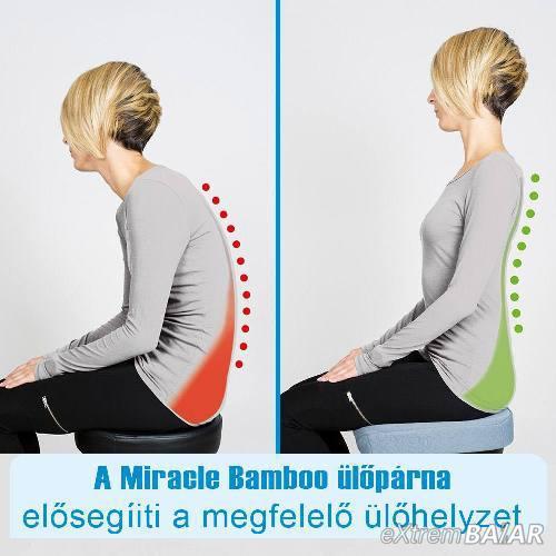 Miracle Bambuszpárna Kényelmi ülőpárna
