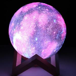 3D LED-es bolygó éjjeli fény / színváltós, galaxis témájú hangulatvilágítás