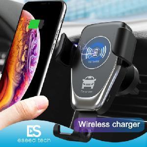 Egykezes autós telefontartó  vezeték nélküli telefontöltéssel