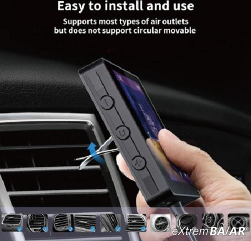 Autós MP5 lejátszó, szellőző rácsba illeszthető – vezeték nélküli Bluetooth csatlakozás / 4.3 col -M6
