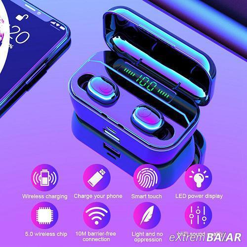 Vezeték nélküli Bluetooth fülhallgató tokba épített töltővel MR-G6S