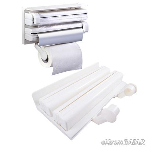 Három az egyben fali papírtörlő és fóliatartó