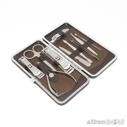 12 darabos manikűr/pedikűr készlet / dekoratív dobozban