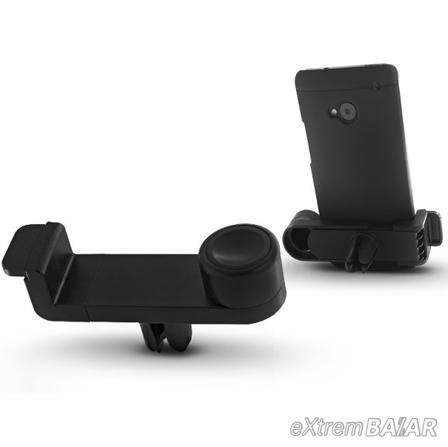 Univerzális szellőzőrácsba illeszthető PDA/GSM autós tartó - fekete