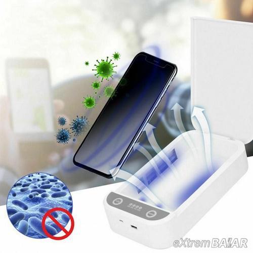 Hordozható vezeték nélküli UV telefon, maszk sterilizátor