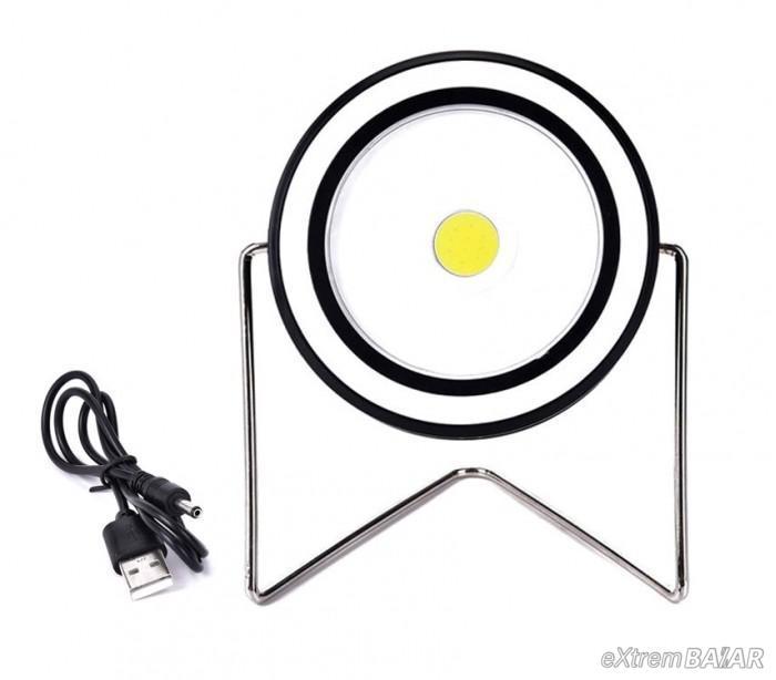 Újratölthető napelemes lámpa Állvány USB kábel jelzőfény RY-T912 1 fény COB